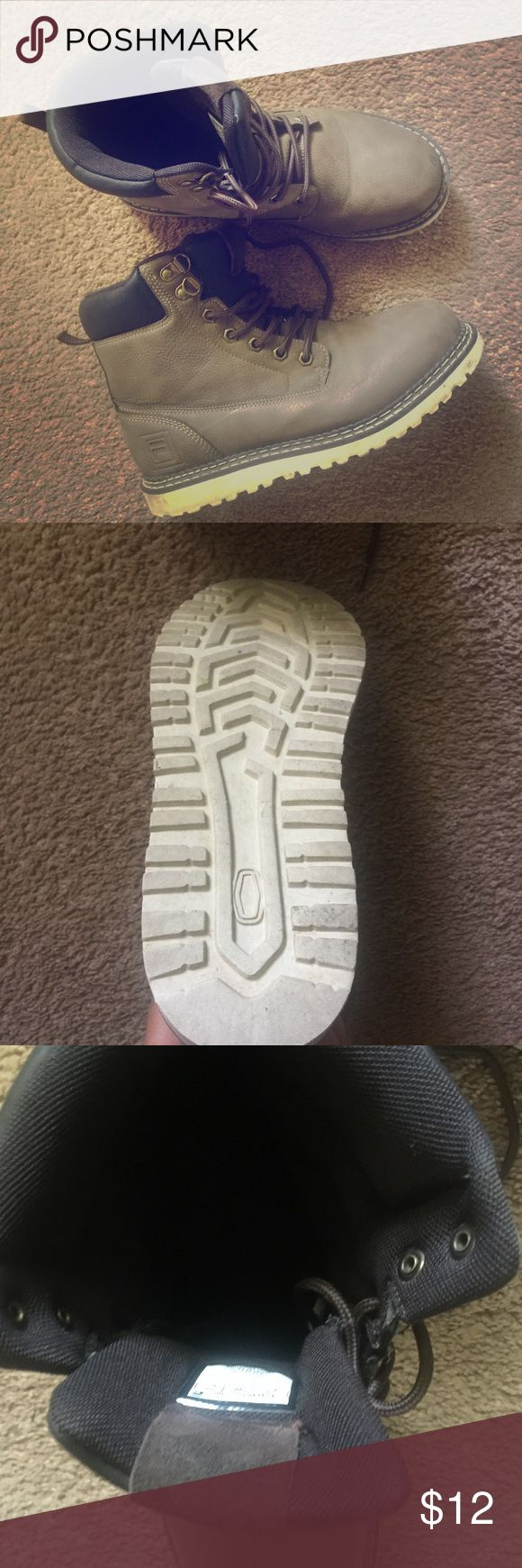 Fila Boots Good condition, just a couple knicks in front (pictured) but very lightly worn Fila Shoes Boots