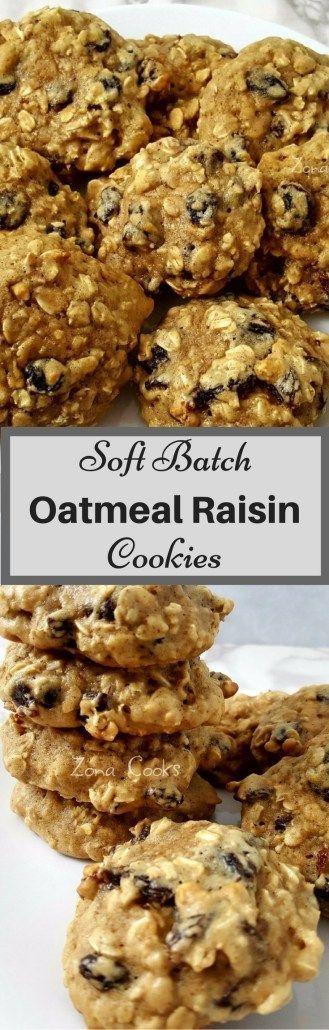 These Soft Batch Oatmeal Raisin Cookies are super soft, thick, chewy, and loaded with oats, plump raisins, and cinnamon. These cookies are easy to make, so delicious, and ready in just 45 minutes! This is a small batch cookie recipe and makes about 8 cookies. They are perfect as an after dinner dessert or while snuggled up with your honey in front of a movie. #smallbatch #softbatch #OatmealRaisinCookies #dessert