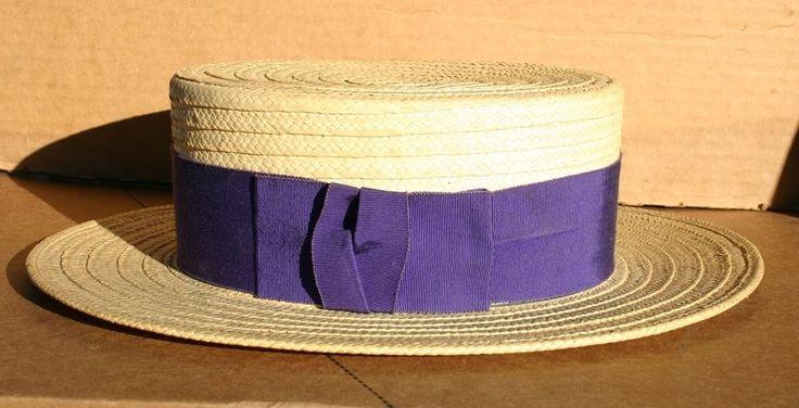 Dobbs Straw VIntage Men's Hat Size  7 1/4 - McManus