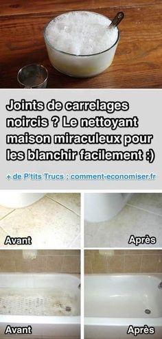 Joints de Carrelage Noircis ? Le Nettoyant Miraculeux Pour les Blanchir Facilement.