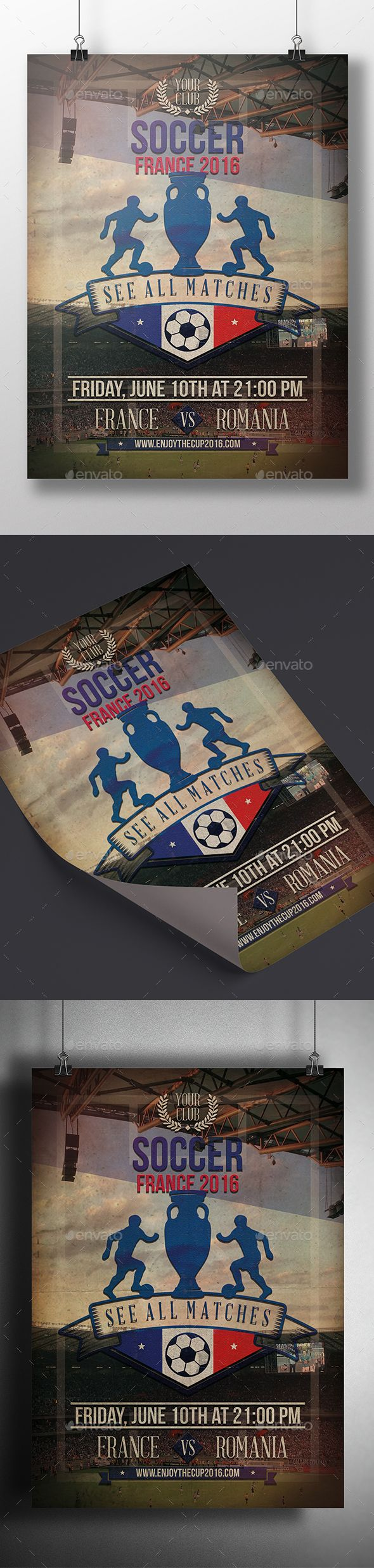 Soccer Cup 2016 Flyer Template