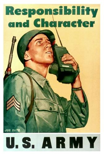 WWII Poster...which definitely could define our Daddy. He was an Army WWII Vet with character and responsibility!