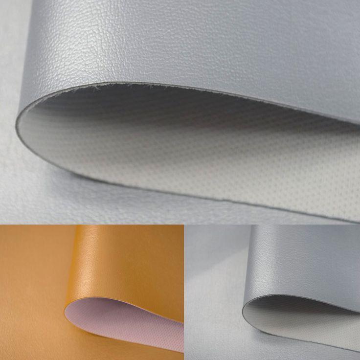 Kunstleder ROYAL GOLD/SILBER Leder Öko PVC Möbel Sitzbezug Meterware  Polster In Bastel  U0026