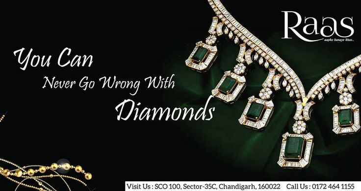 You Can Never Go Wrong With Diamonds!  Check out The Latest Collection Of #Diamond #Jewellery At #RAAS #Jewels. Visit Our Store at SCO 100, Sector-35C, Chandigarh, 160022 Or Call Us Today - 0172-4641155  #RaasJewels #Chandigarh #GoldJewellery #DiamondJewellery