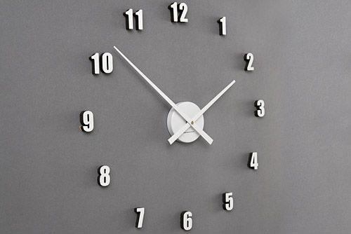 Naklejany Zegar ścienny Extender Mini BiaŁy Zegary