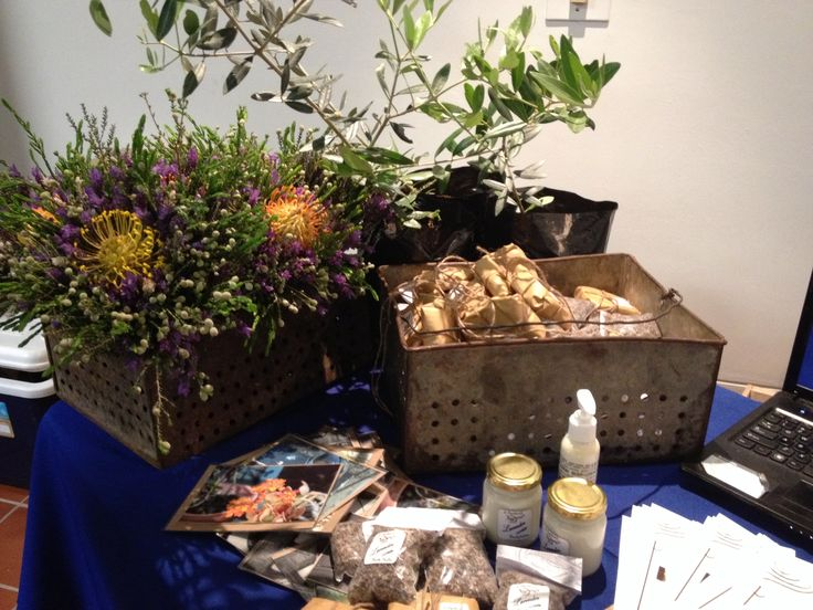 Fynbos bouquets, lavender soap and body lotion
