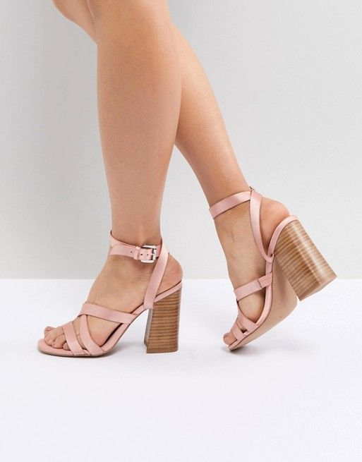 298e7241e5a DESIGN Tilbury Satin Block Heel Sandals in 2018