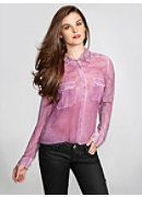Long-Sleeve Stencil Spray Shirt by Guess®