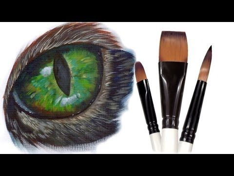 How to paint fur in acrylic. How to paint White Fur, Black fur, and brown Fur, How to paint Short fur and Long Fur. This is an in dept look at the painting o...