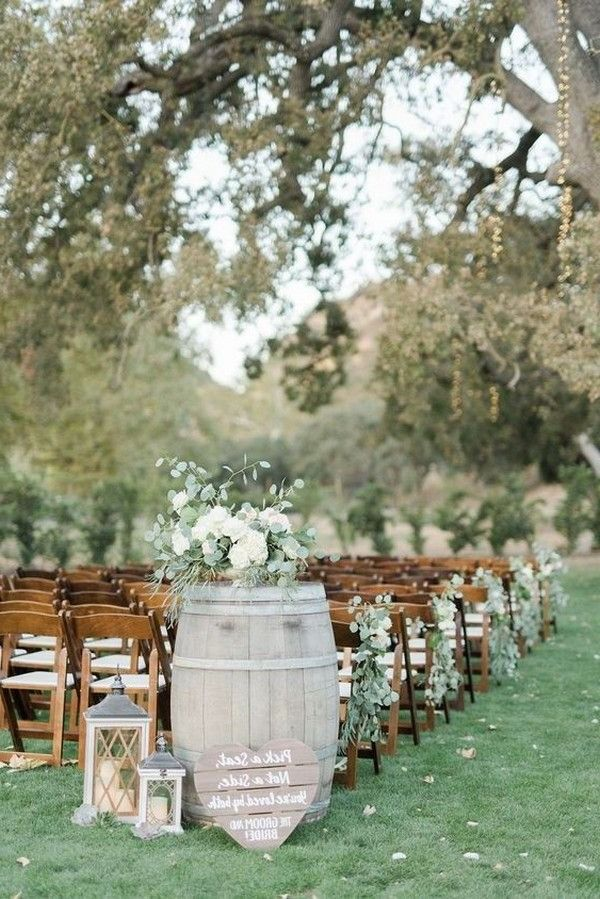 60 Rustic Country Wine Barrel Wedding Ideas Outdoor Wedding Isle Wedding Aisle Decorations Outdoor Outdoor Wedding