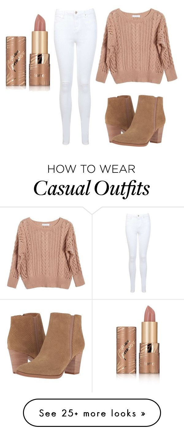 """Nude casual"" by nargoes05 on Polyvore featuring Ryan Roche, Miss Selfridge, Franco Sarto and tarte"