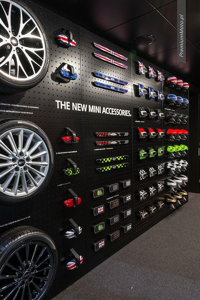 Mini options wall at Geneva Motor Show 2014 #mini #extras #geneva2014