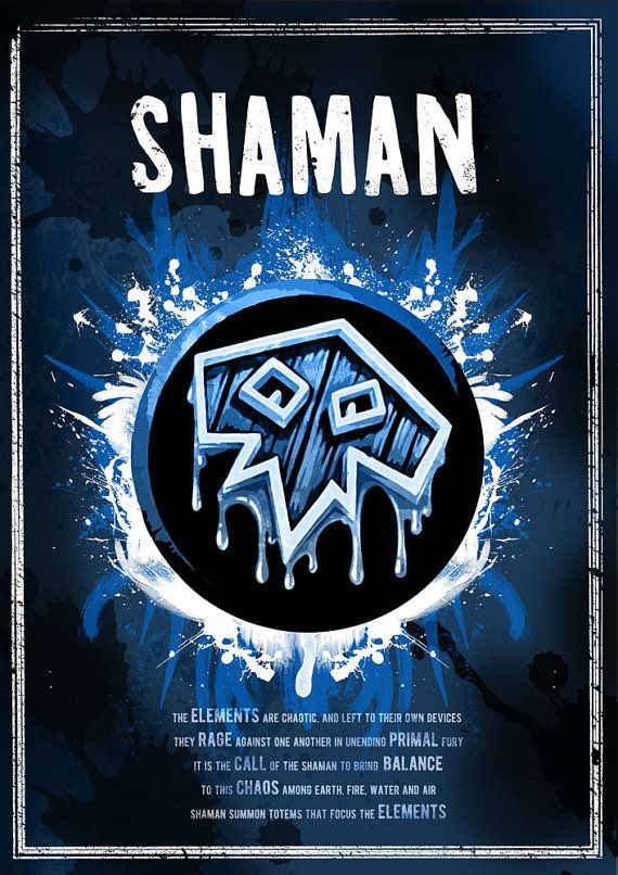 World of Warcraft: Shaman Class Symbol print/poster by SodaArcade
