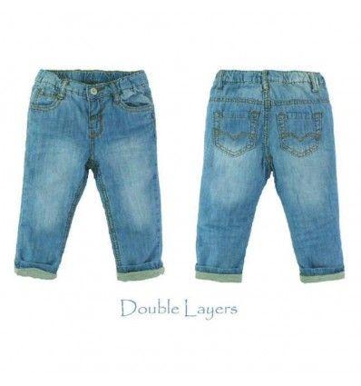 Jual Celana Bayi Anak Smart Baby - Light Blue Jeans with Cotton Layer - Baju bayi anak branded import Smart Baby - Light Blue Jeans with Cotton Layer