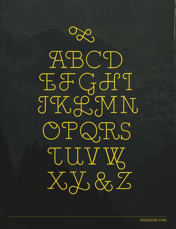 Kingdom Type Design by renee granillo, via Behance