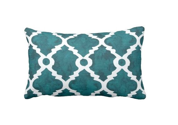 Teal Throw Pillow Cover Teal Pillow Cover Moroccan Pillow