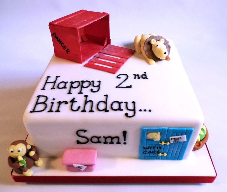 Dear Zoo birthday cake by Helen Brown Cakes www.facebook.com/helenbrowncakes