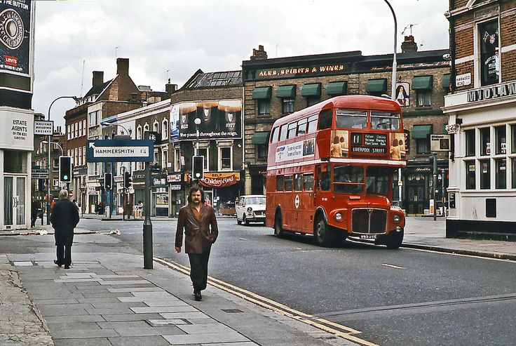 Fulham. Happy days. I lived in an awful flat down this road but I met my husband while living here so happy memories.