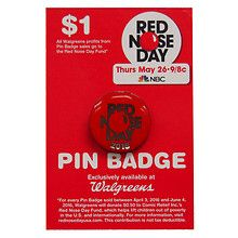Walgreens Red Nose Day 2016 Pin Badge X.