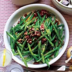 Pair this nutty-sweet green bean side dish with creamy mashed potatoes and the protein of your choice for an easy yet impressive weeknight dinner.