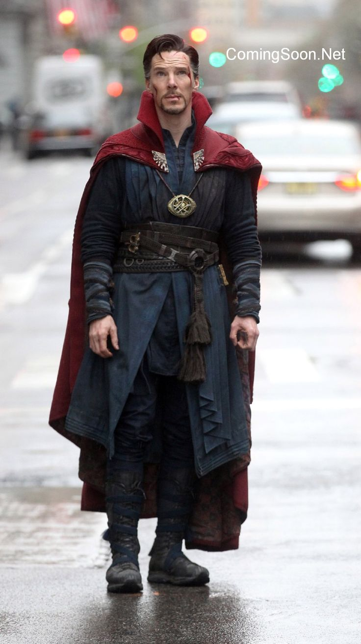 Doctor Strange: I like this costume but his boots look more like grandpa shoes.