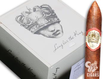 You've heard the expression - The King is dead. Long live the King - where the fallen King is succeeded by the new, the modern, the next heir to the throne. Long Live the King represents the latter - it's a sophisticated smoke intended for the modern smoker.    This exciting new series has been designed to smoke back-to-back (The King is Dead cigar and Long Live the King cigar), perfectly complimenting each other with rare tobaccos that are c