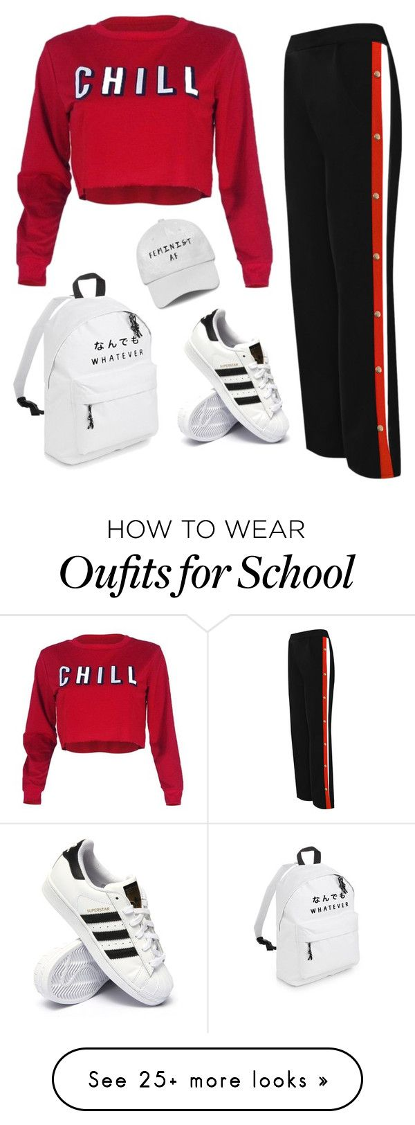 """Untitled #780"" by emily147147 on Polyvore featuring WearAll and adidas"