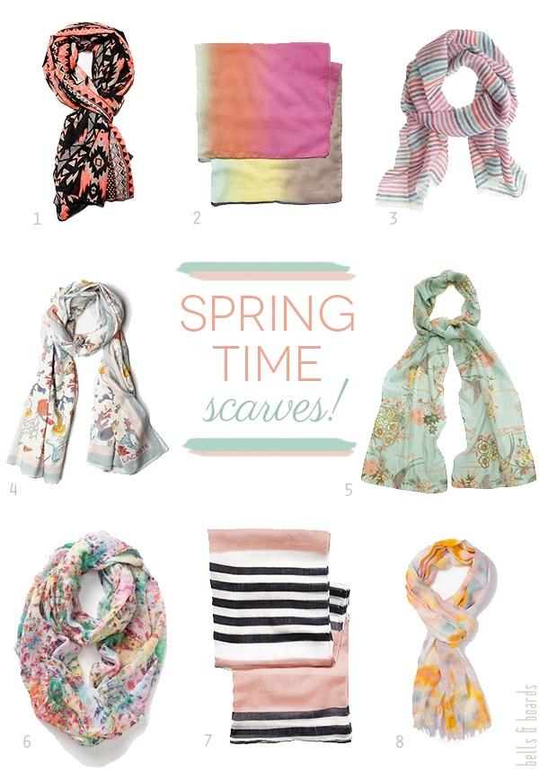 spring time scarves!
