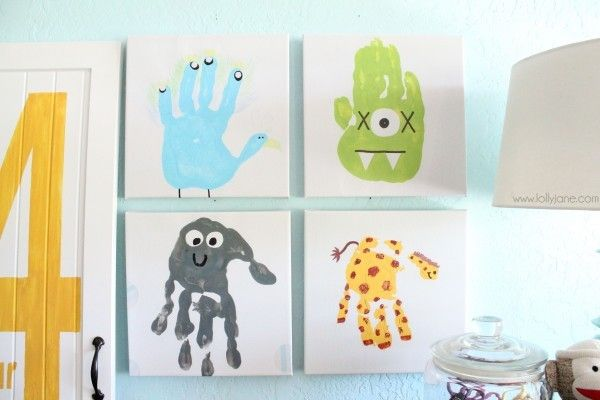 Handprint Art {Art Projects}  Here is a super fun art project your kiddos will love! Best of all you'll love to display these personalized handprint animals! Grab some paint, your kids and some paper! Easy, fun and memorable!