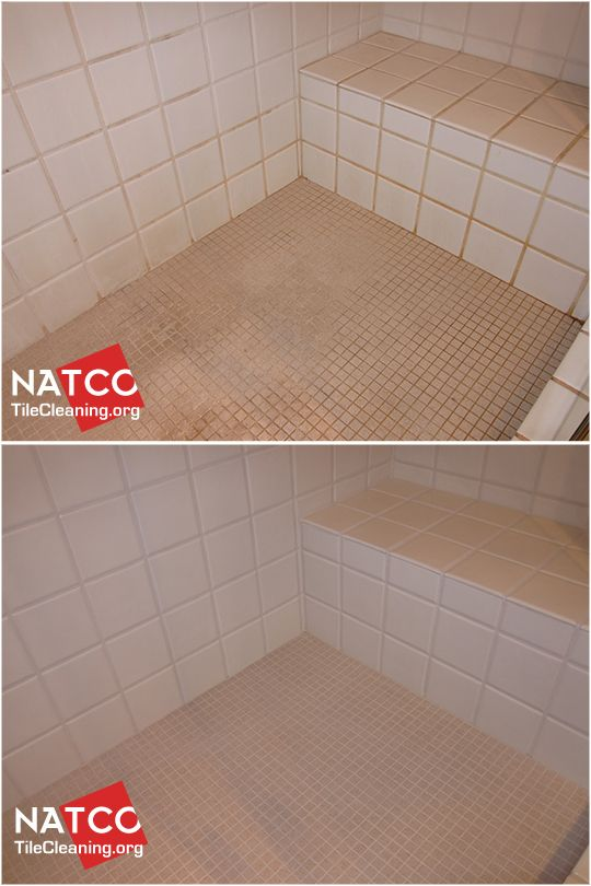 Cleaning moldy shower and painting grout.