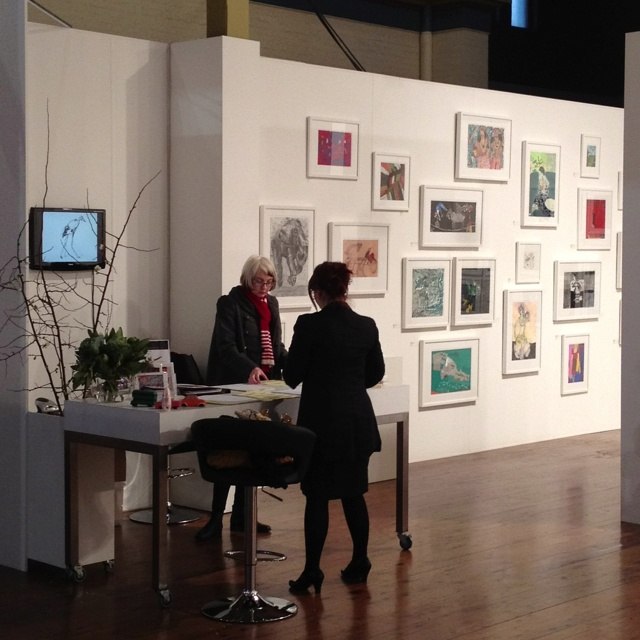 Setup, ready and excited for Art Fair Melbourne. Come on down to the Royal Exhibition Building, Melbourne.