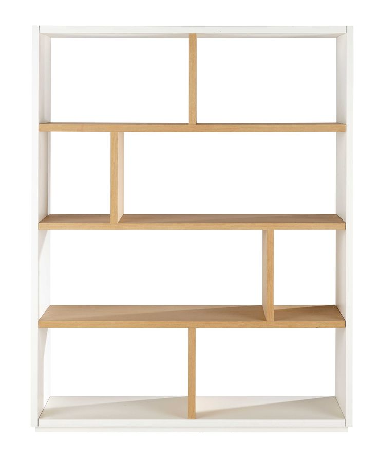 Oak shelf unit in white W 155cm Austral