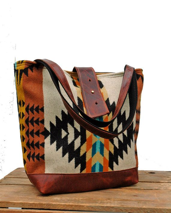 Ann Shoulder Bag in Rancho Arroyo PatternOrange by appetite, $104.00 on Etsy