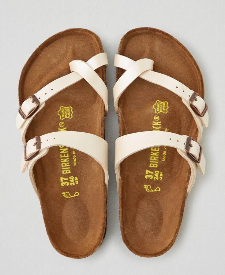 AEO Birkenstock Mayari Sandals, Women's, Size: 42 (US 11), Ivory