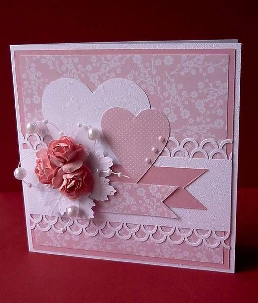 Ružové svadobné blahoželanie / Klaudia29 - SAShE.sk - Handmade Papiernictvo