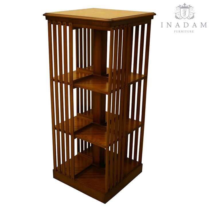 Inadam Furniture - 3 Tier Revolving Bookcase - Mahogany or Yew - Reproduction furniture