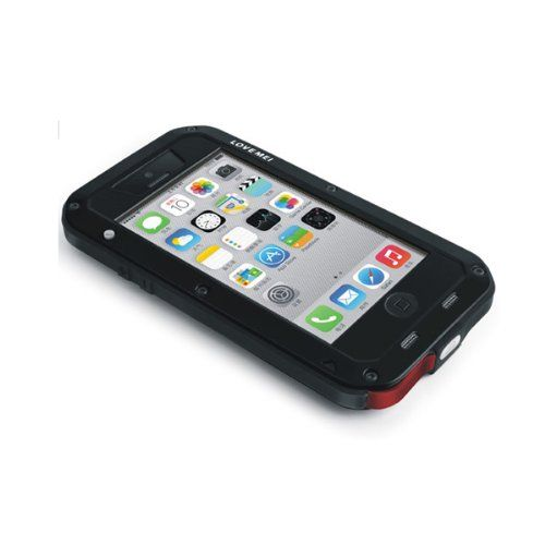 Extreme Premium Protection System with Corning Gorilla Glass for Iphone 5 5s (iphone 5c black&red) Corning Gorilla Glass screen protection. High impact polymer bezels. 9mm Silicone Impact Truss (patent pending). Water + dust resistant acoustic port protection. 3.5 sealed aluminum port cover.  #EcoTech #Wireless