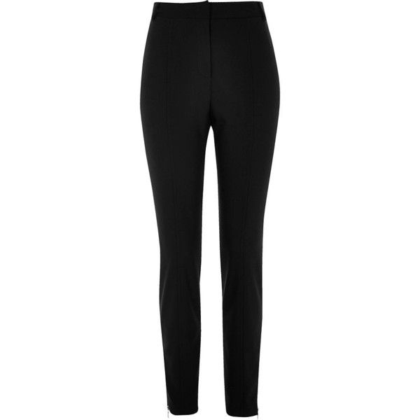 River Island Black slim fit seamed trousers (1,950 PHP) ❤ liked on Polyvore featuring pants, trousers, river island, tall pants, slim pants, slim fit pants and woven pants