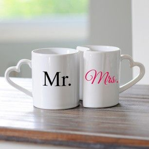 Mr. & Mrs. Coffee Mug Set