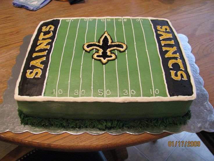 23 best saints birthday cakes images on Pinterest Anniversary