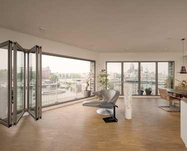 Exceptional Faltwand Aus Glas Für Großflächige Öffnungen. Falttüren Und Faltanlagen    Aluminium Und Holz. Planung