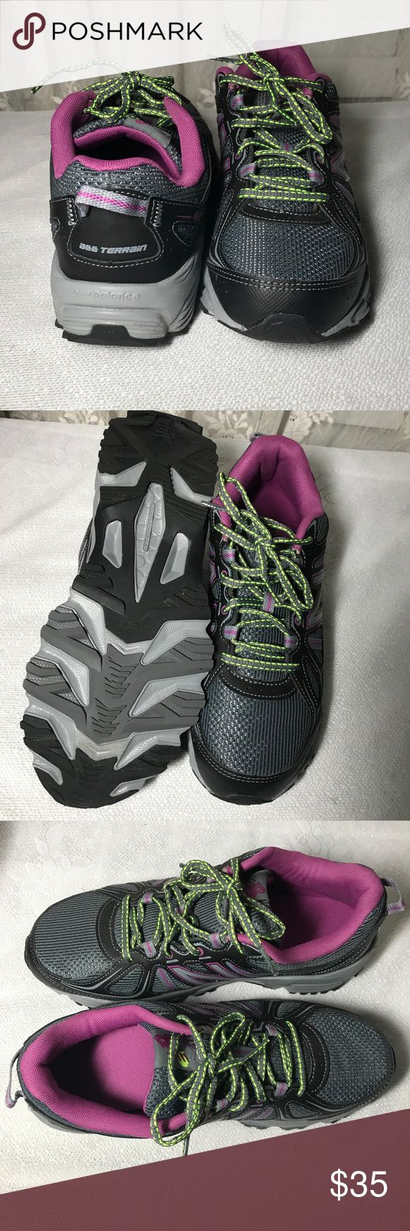 New Balance All Terrain Trainers Running Shoes New gray & purple with neon laces. New Balance All Terrain trainers. Size 10 New Balance Shoes Sneakers