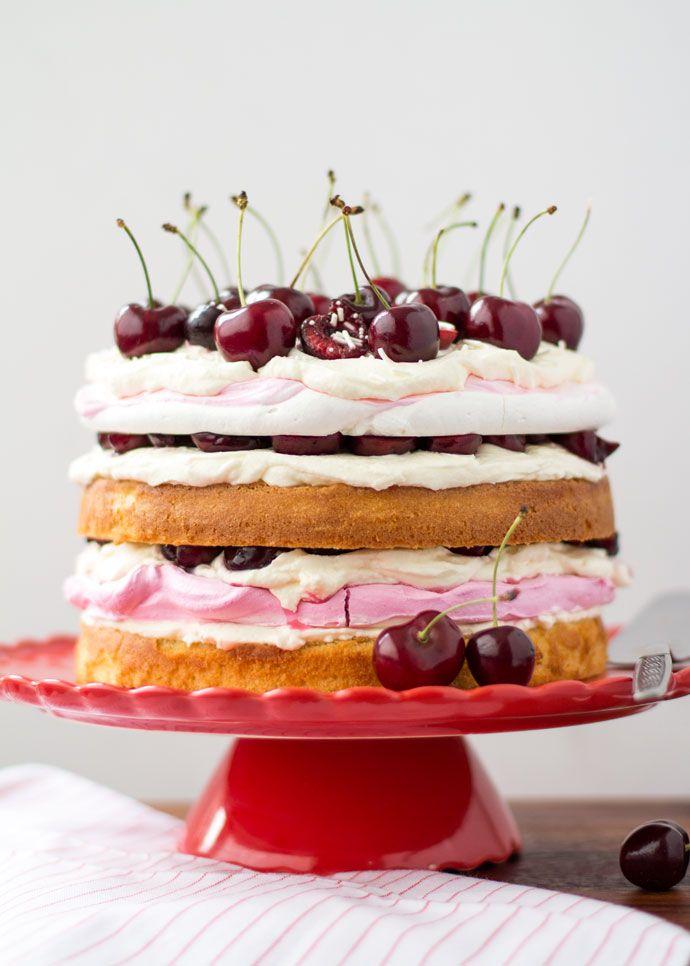 Deze frisse kersen meringue taart kun jij vanaf vandaag ook zelf gaan maken. Ik leg jou uit hoe!