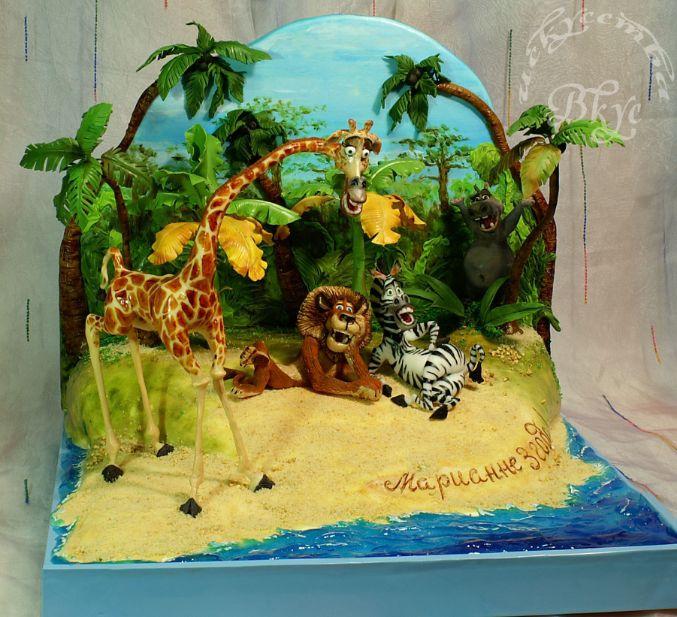 """Торт по мультфильму """"Мадагаскар"""" - Кондитерская - Babyblog.ru"""