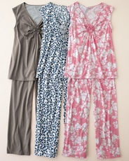 Organic cotton cap sleeved pajamas - if I had these I would never get dressed !