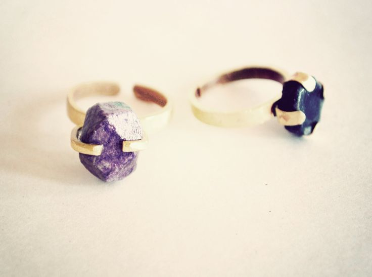 One of a Kind rock ring sample handmade entirely from waste magazine paper and waste brass. www.quazidesign.com
