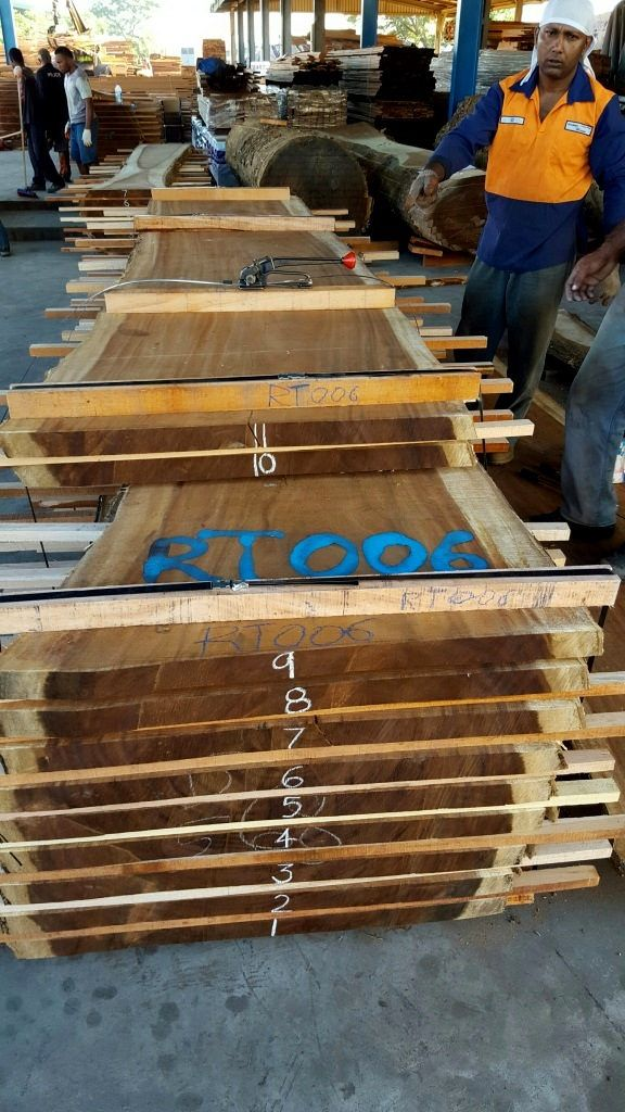 Solid Wood Slab Lumber For Table Tops From Exotic Tropical Hardwoods.