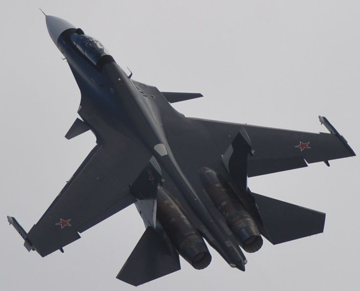 Sukhoi Su-30SM Flanker performing at the MAKS 2013 air show in Moscow,August.Russian Air Force version of the Indian Su-30MKI Flanker-H.