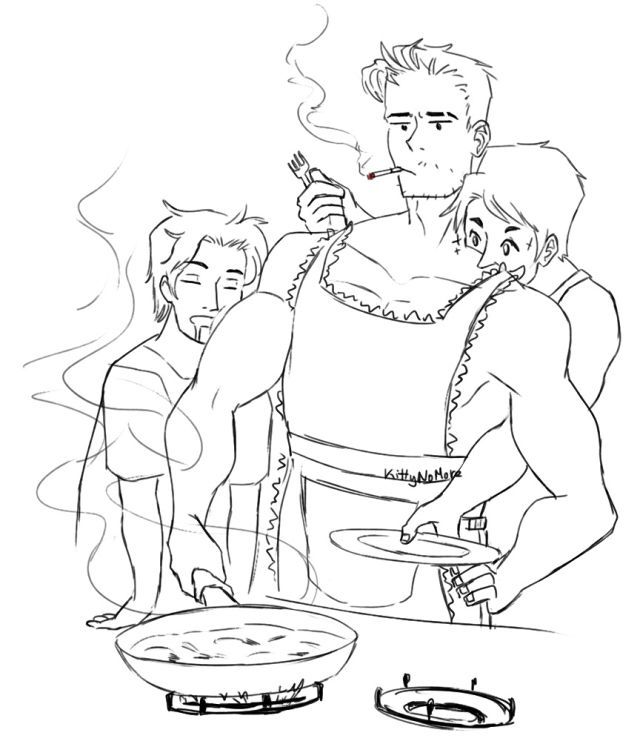 I feel like Jason would be the only one that could cook. Secretly be better than Alfred. They would show up on Sunday at his house for food