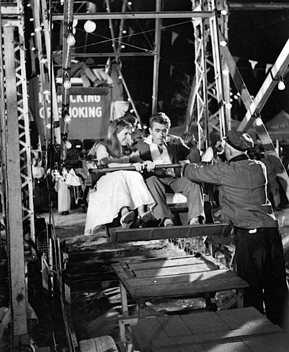 James Dean and Julie Harris on the set of East of Eden